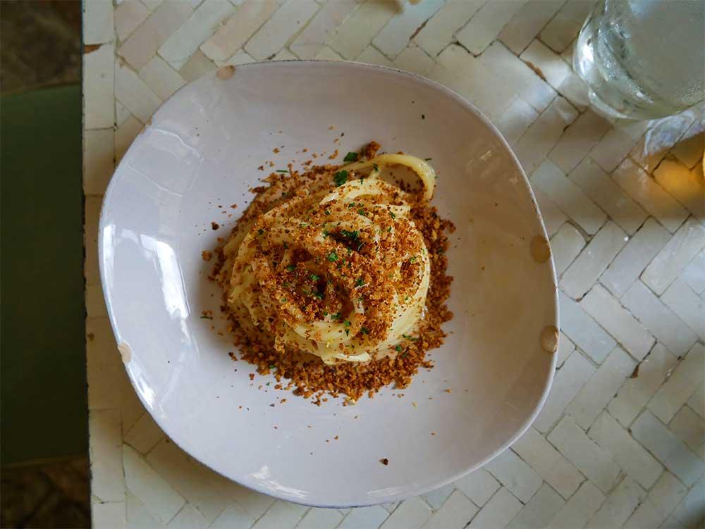 LuBar Milan spaghetti main course